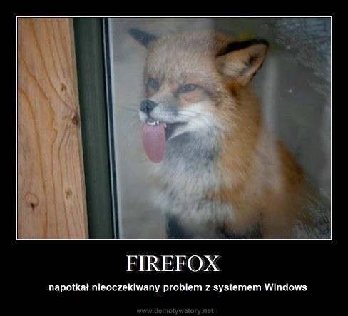 FIREFOX - napotkał nieoczekiwany problem z systemem Windows