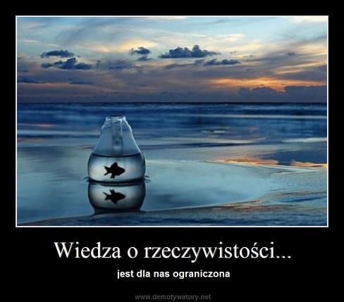 Wiedza o rzeczywistości... - jest dla nas ograniczona