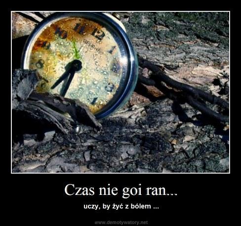 Czas nie goi ran... - uczy, by żyć z bólem ...