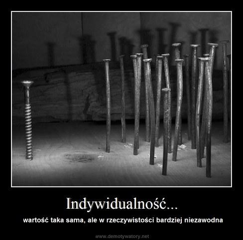 Indywidualność... - wartość taka sama, ale w rzeczywistości bardziej niezawodna