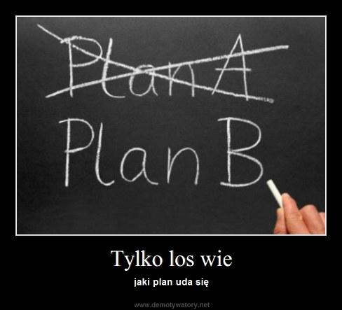 Tylko los wie - jaki plan uda się