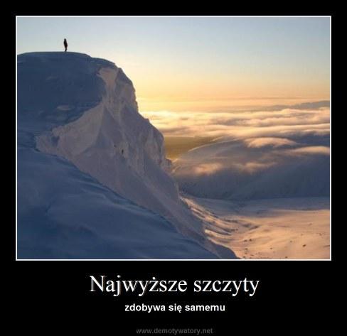 Najwyższe szczyty - zdobywa się samemu