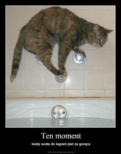 Ten moment - kiedy woda do kąpieli jest za gorąca