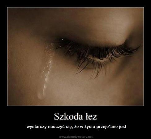 Szkoda łez - wystarczy nauczyć się, że w życiu przeje*ane jest