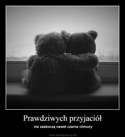 Prawdziwych przyjaciół - nie zaskoczą nawet czarne chmury
