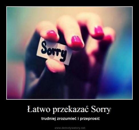 Łatwo przekazać Sorry - trudniej zrozumieć i przeprosić