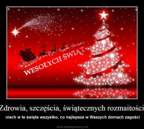 Zdrowia, szczęścia, świątecznych rozmaitości - niech w te święta wszystko, co najlepsze w Waszych domach zagości