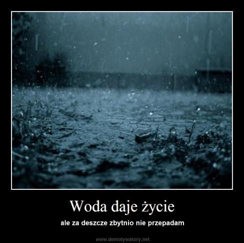 Woda daje życie - ale za deszcze zbytnio nie przepadam