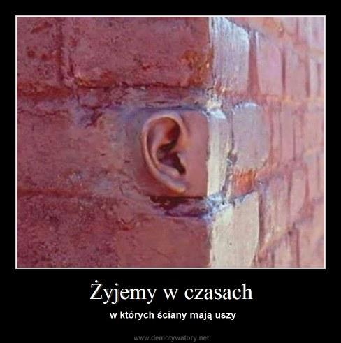 Żyjemy w czasach - w których ściany mają uszy