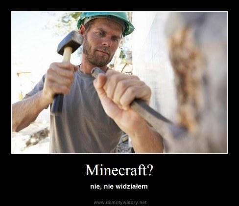 Minecraft? - nie, nie widziałem