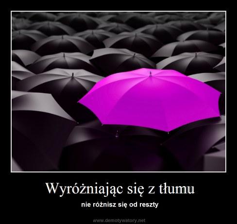 Wyróżniając się z tłumu - nie różnisz się od reszty